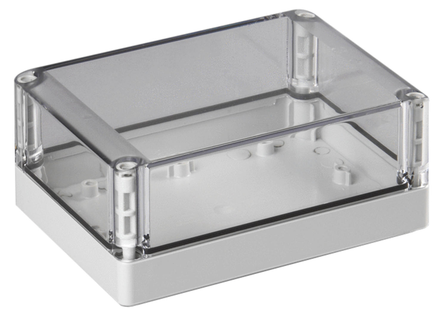 Transparent cap, flatten side in bottom mould, included cap- and montagescrew