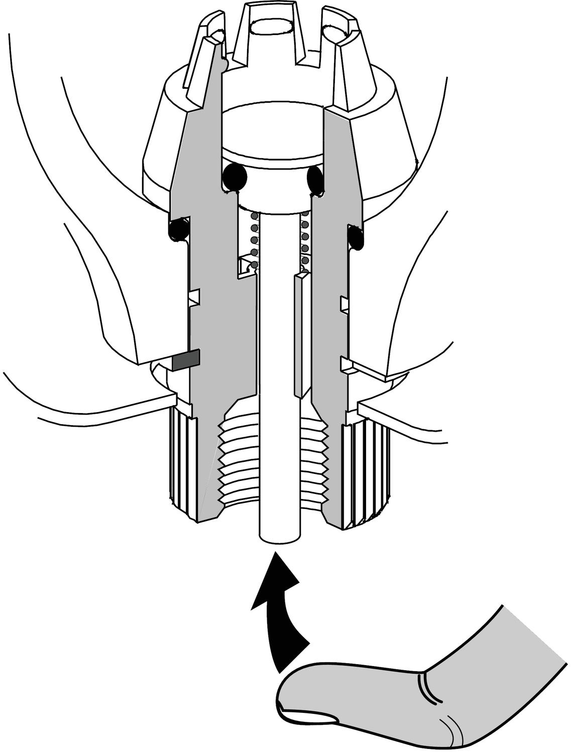 Illustration to semi automatic drainage